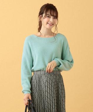 any SiS 【難波蘭さん監修】パーソナルカラー ボートネック ニット アクアブルー