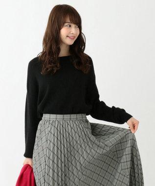 any SiS 【難波蘭さん監修】パーソナルカラー ボートネック ニット ブラック