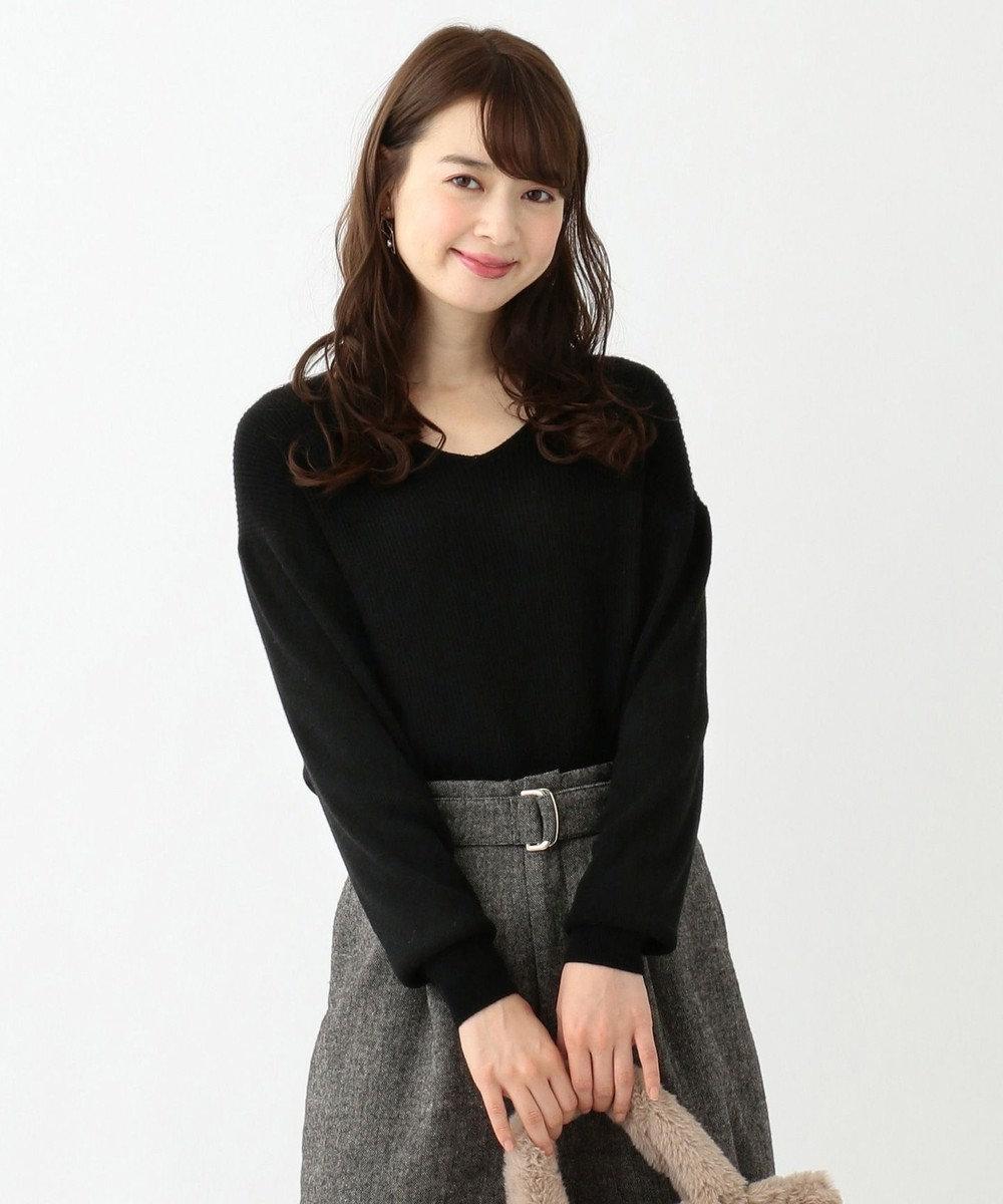 any SiS 【難波蘭さん監修】パーソナルカラー Vネック ニット ブラック系