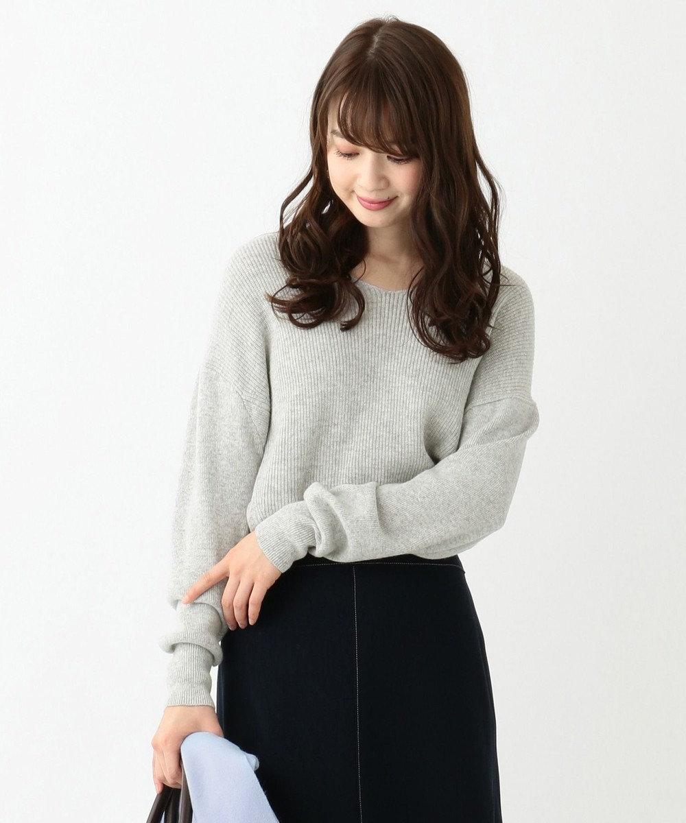 any SiS 【難波蘭さん監修】パーソナルカラー Vネック ニット シルバーグレー