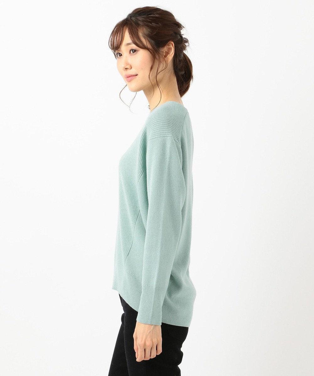 any SiS 【難波蘭さん監修】パーソナルカラー Vネック ニット アクアブルー
