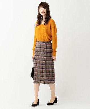 any SiS 【難波蘭さん監修】パーソナルカラー Vネック ニット リーフイエロー