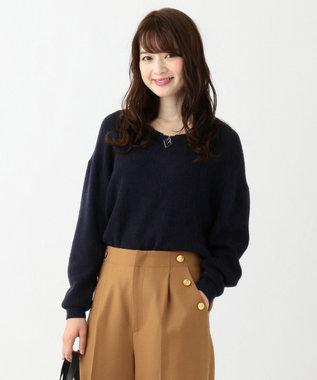 any SiS 【難波蘭さん監修】パーソナルカラー Vネック ニット ネイビー系
