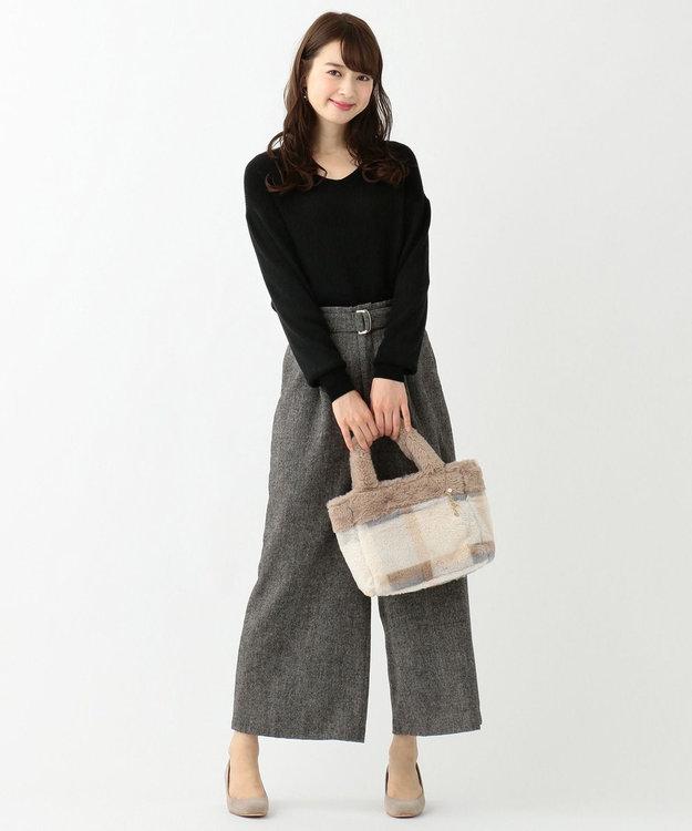any SiS 【難波蘭さん監修】パーソナルカラー Vネック ニット