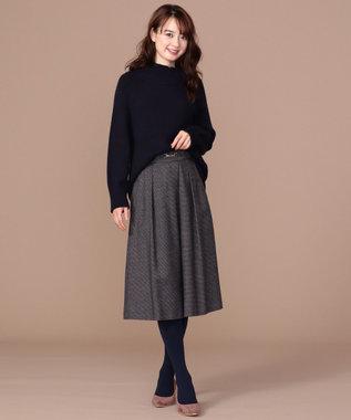 any SiS 【洗える】スタンドネック ニット ネイビー系