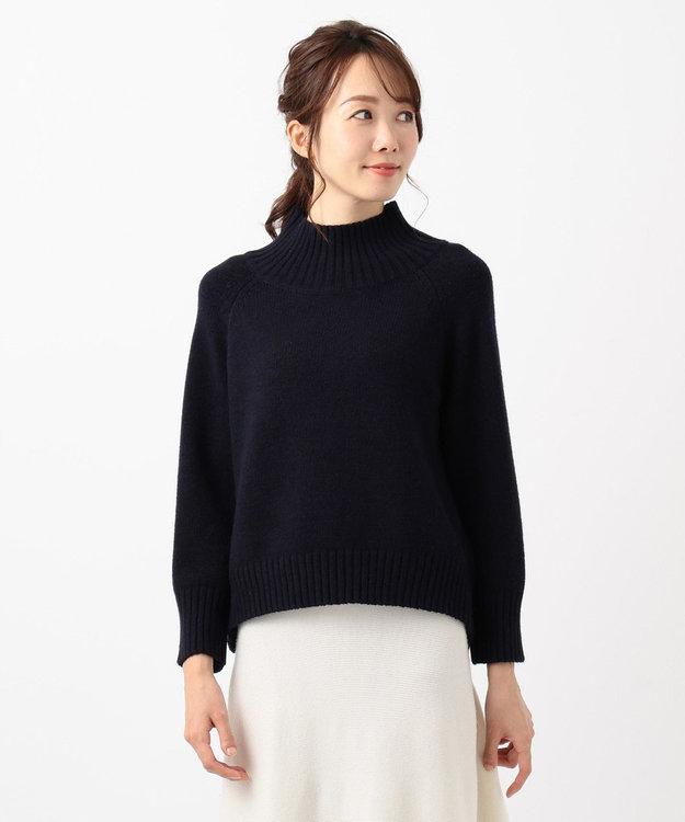 any SiS 【洗える】スタンドネック ニット