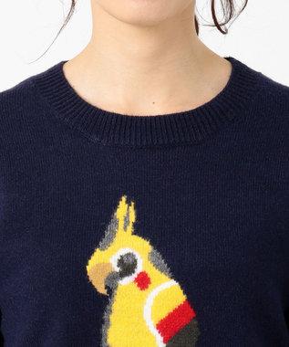 any SiS 【L'aube】コッカテールインターシャ ニット ネイビー系