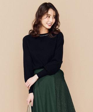 any SiS S 【洗える】クリスタル プルオーバー ブラック系