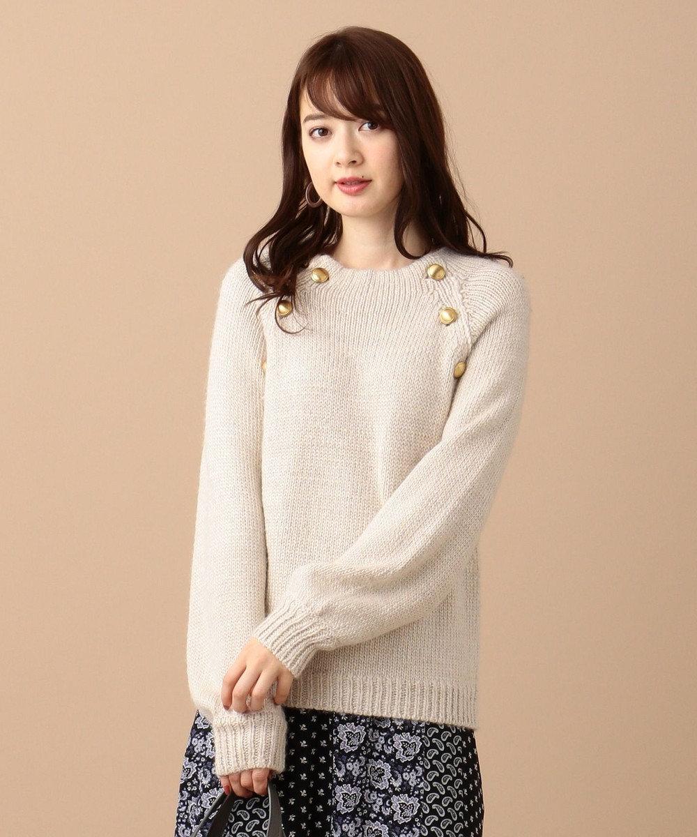 any SiS 【洗える】MIXヤーン ニット ライトベージュMIX