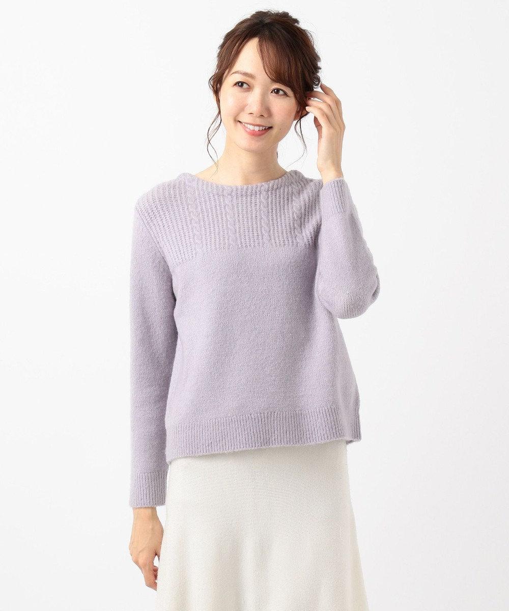 any SiS 【洗える】モチモチケーブル ニット スモーキーライラック