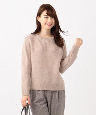 any SiS 【洗える】モチモチケーブル ニット ミルクティー