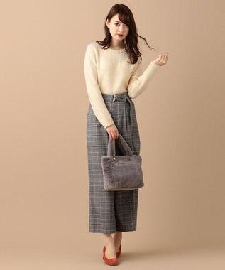 any SiS 【洗える】モチモチケーブル ニット アイボリー
