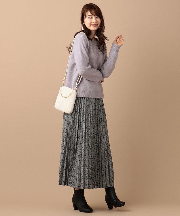 any SiS 【洗える】モチモチケーブル ニット