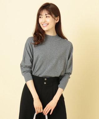 any SiS S 【洗える】ドルマンチュニック ニット チャコールグレー