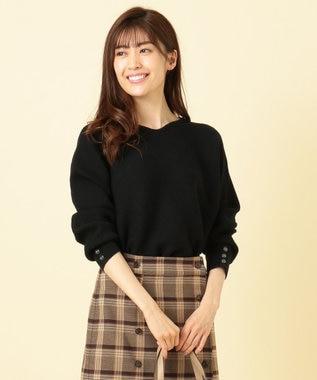 any SiS 【大人気アイテムがリニューアル!】リブドルマン ニット ブラック