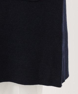 any SiS L 【洗える】カラーコンビ コーディガン ネイビー×チャコールグレー