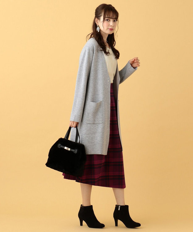 any SiS L 【洗える】カラーコンビ コーディガン