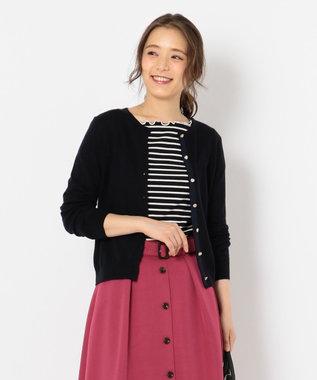 any SiS 【洗える】ベーシック カーディガン ネイビー系