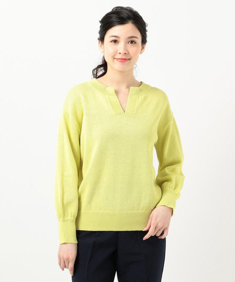 組曲 【VERY4月号掲載】ギマコットン キーネックニット イエロー系