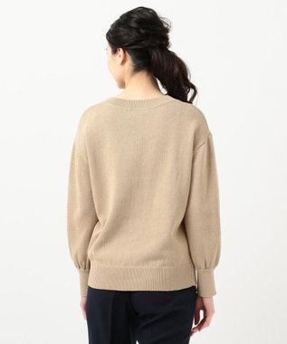 組曲 【VERY4月号掲載】ギマコットン キーネックニット ベージュ系