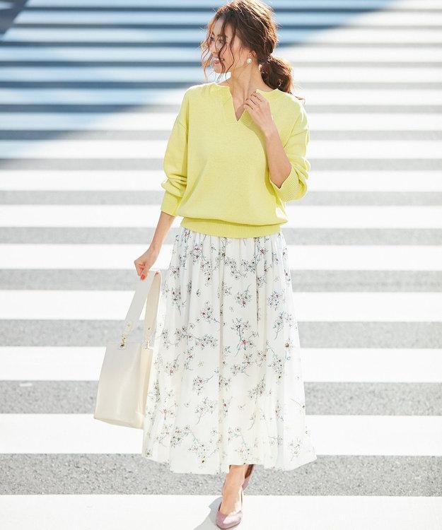 組曲 S 【VERY4月号掲載】ギマコットン キーネックニット