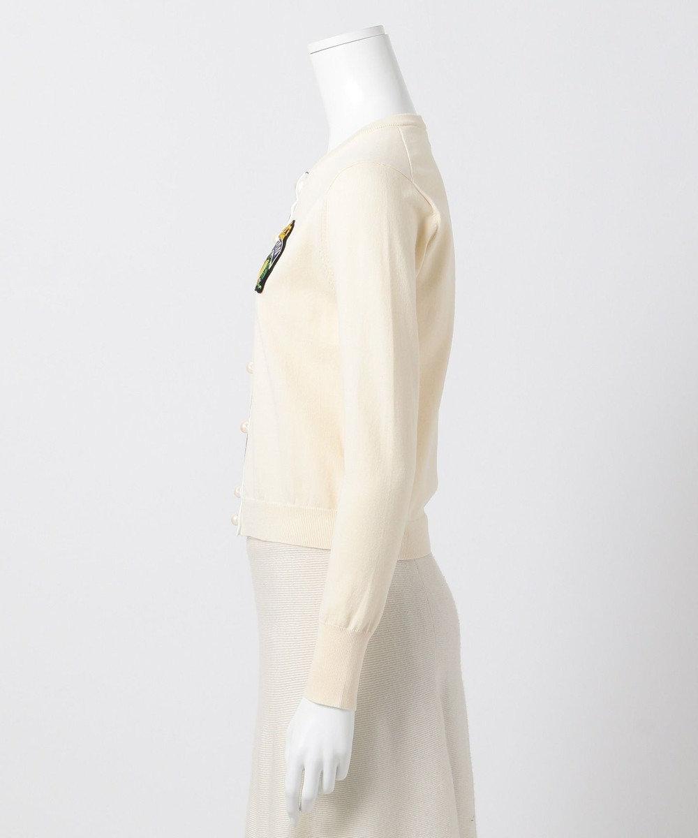 組曲 【Rythme KUMIKYOKU】レモンワッペンカーディガン アイボリー系