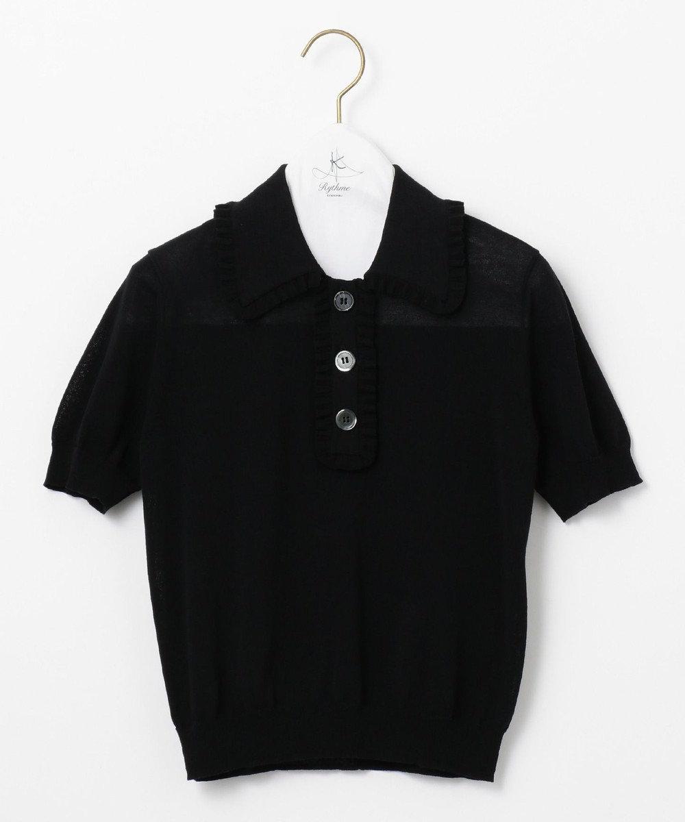 組曲 【Rythme KUMIKYOKU】Mademoiselle ポロシャツ ブラック系