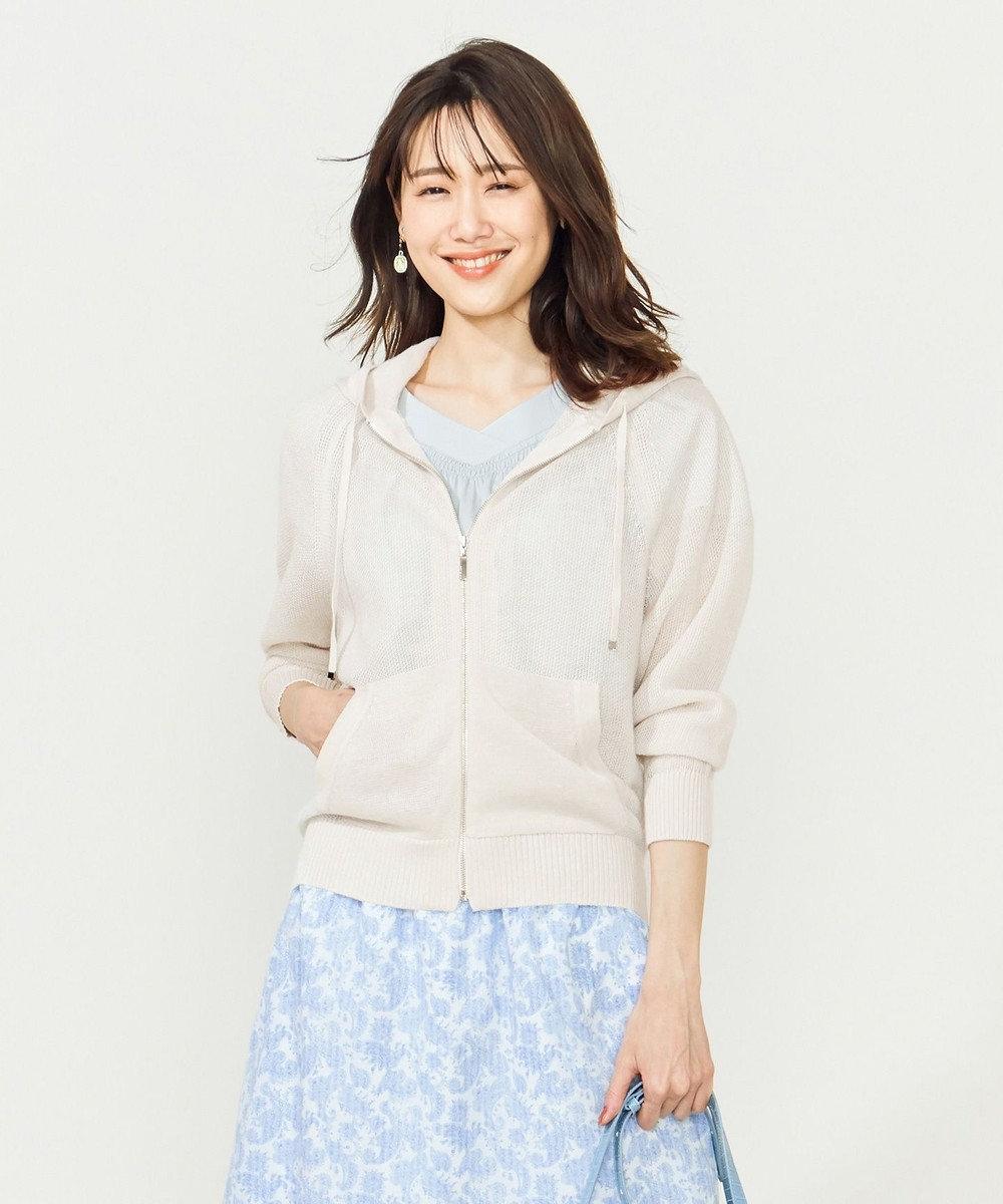 組曲 S 【夏の羽織に最適!】ラミーハイゲージ パーカー アイボリー系