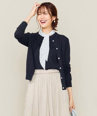 組曲 S 【セットアイテム】スカーフツインニット ネイビー系