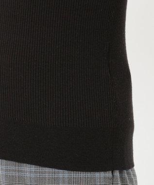 組曲 【洗える】スムースストレッチリブ タートルニット ブラック系