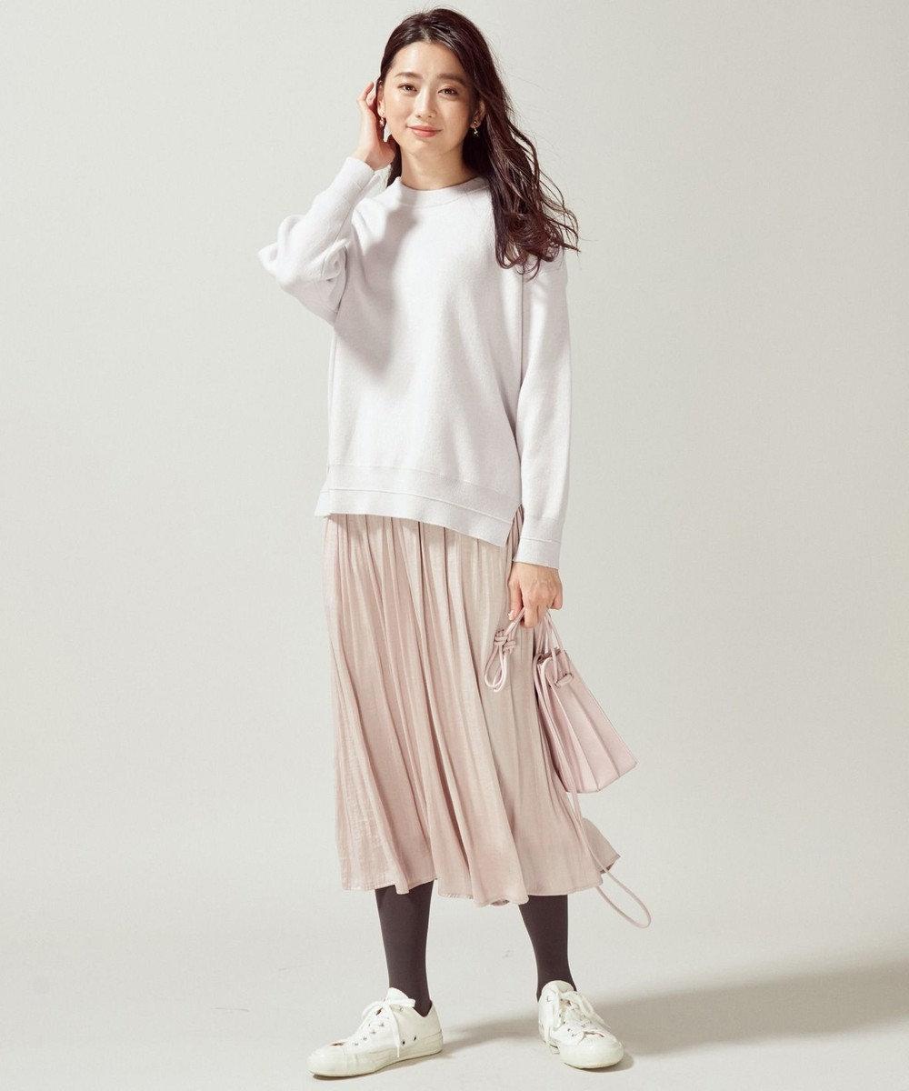 組曲 S 【カシミヤ混】スムース ニット スウェット ライトグレー系