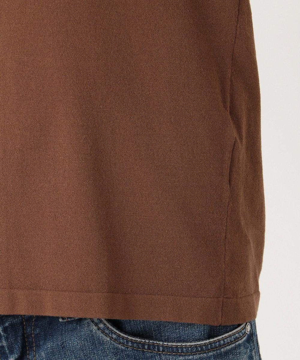 組曲 L 【洗える】クレープストレッチ ニットTシャツ ダークブラウン系