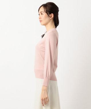 組曲 L 【洗える】ハイツイストストレッチ ニット ピンク系