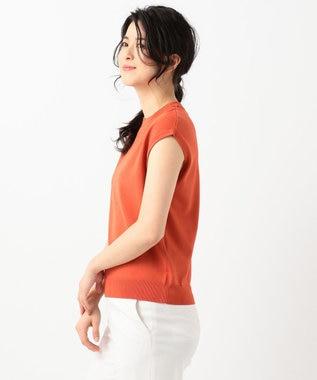 組曲 【MOREコラボ・限定カラーあり】ハイゲージノースリーブニット オレンジ系