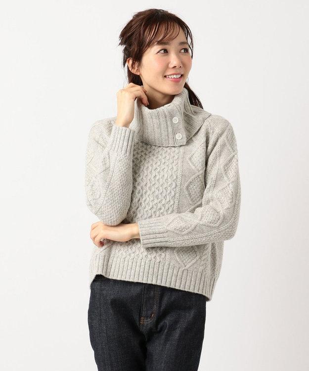 組曲 【MORE12月号掲載】メランジケーブル ニット