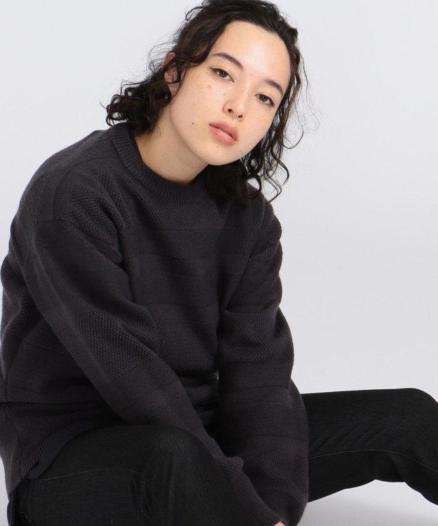 J.PRESS YORK STREET 【UNISEX】【洗える】ランダムボーダークルーセーター