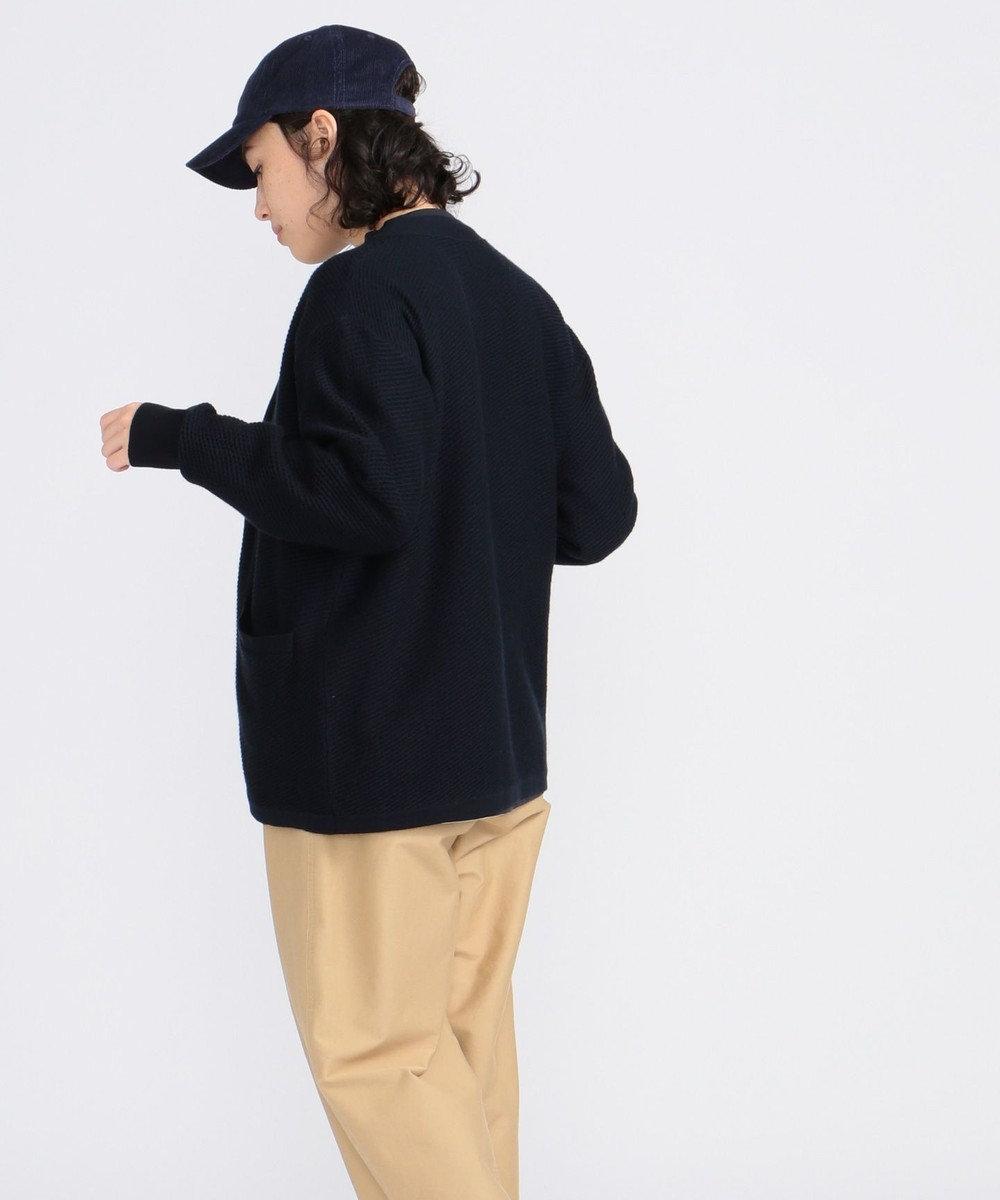 J.PRESS YORK STREET 【UNISEX】【洗える】トッパーカーディガン ネイビー系