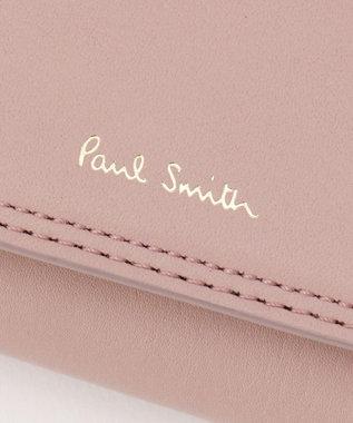 Paul Smith ダブルステッチカラー キーケース ピンク系
