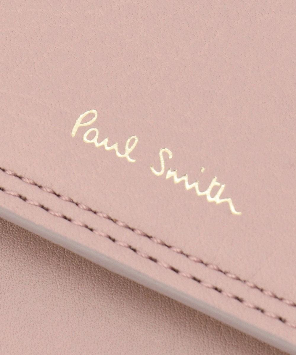 Paul Smith ダブルステッチカラー 長財布 ピンク系