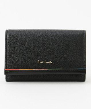 Paul Smith レイヤードストライプ カードケース ブラック系