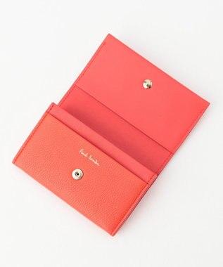 Paul Smith レイヤードストライプ カードケース ピンク系