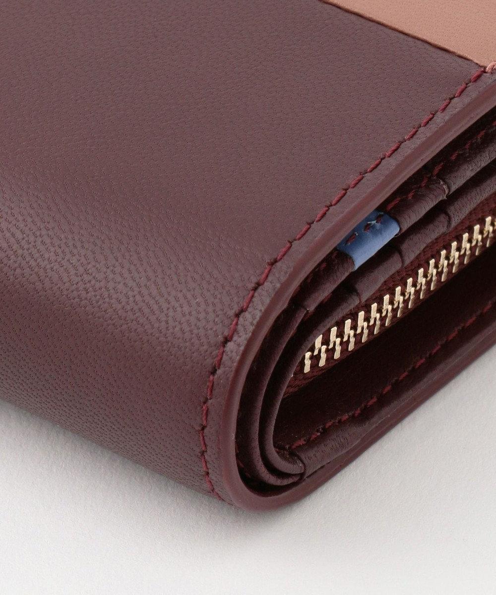Paul Smith バイカラーブロック ミニ財布 ワイン系