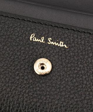 Paul Smith インセットクロスオーバーストライプ カードケース ブラック系