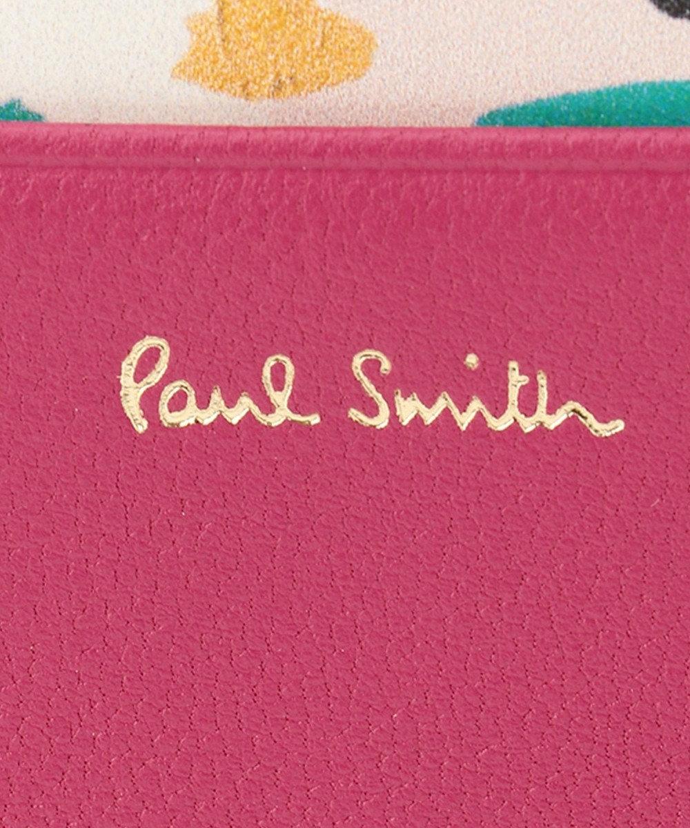 Paul Smith ペタルプリントトリム パスケース ピンク系
