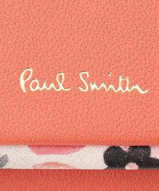 Paul Smith ペタルプリントトリム キーケース レッド系