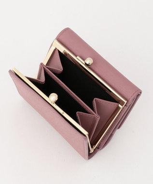 Paul Smith ストローグレインレザー 3つ折り財布 ライラック系
