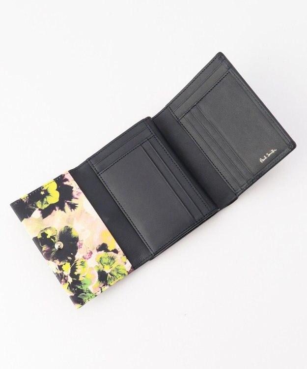 Paul Smith ヘイジーパンジートリム 3つ折り財布 ネイビー系