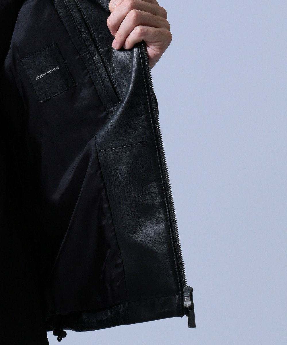 JOSEPH HOMME 【FORZA STYLE 掲載】グローブネイキッド レザー ジャケット ブラック系