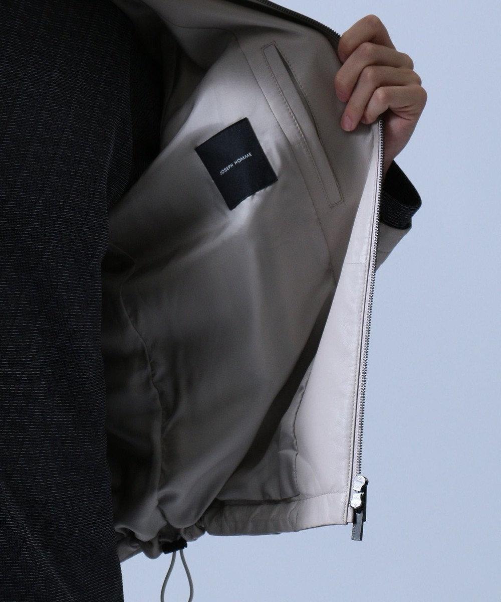 JOSEPH HOMME 【FORZA STYLE 掲載】グローブネイキッド レザー ジャケット ベージュ系