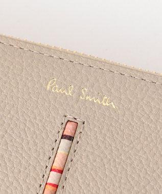 Paul Smith 【新色!】インセットクロスオーバーストライプ 長財布(ラウンドジップ) ベージュ系